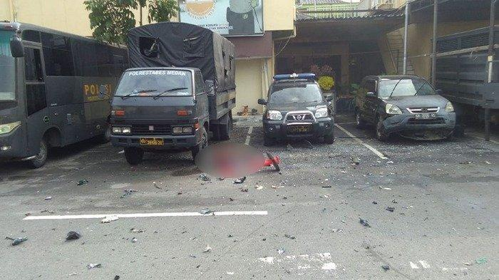 VIDEO - Rekaman CCTV Detik-detik Ledakan Bom di Polrestabes Medan