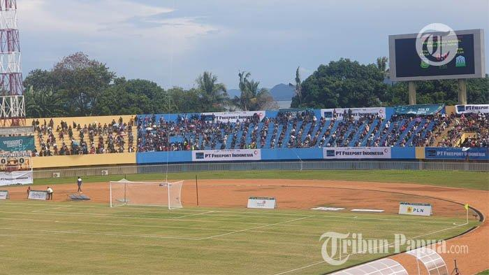 Stadion Mandala Padat JelangFinal Papua Vs Aceh, Prokes Ketat Diterapkan di Tribun Utara & Selatan