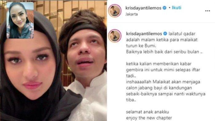 Tangkapan layar unggahan Krisdayanti panjatkan doa pasca mendapat kabar kehamilan Aurel Hermansyah, Jumat (7/5/2021)