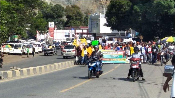 Tak Hanya di Manokwari, Aksi Protes Massa Juga Terjadi di Jayapura