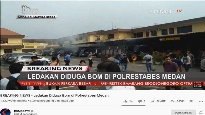 5 Kesaksian Warga Detik-detik Bom Meledak di Polrestabes Medan, Merasa Terangkat dan Rumah Getar