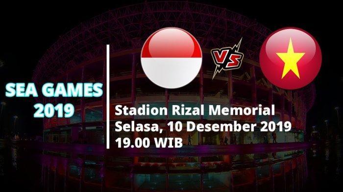 VIDEO Live Streaming Indonesia Vs Vietnam di Final SEA Games 2019 Malam Ini Pukul 19.00 WIB