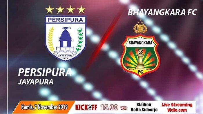 Hasil Babak Pertama Persipura Vs Bhayangkara FC: The Guardian Ungguli Mutiara Hitam