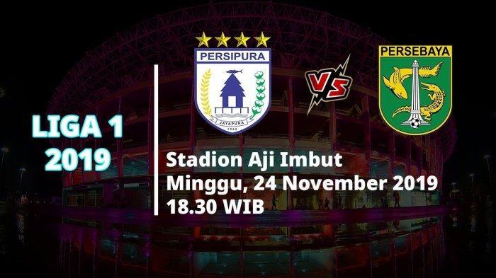 VIDEO Live Streaming Liga 1 2019 Persipura Jayapura Vs Persebaya Surabaya, Pukul 18.30 WIB
