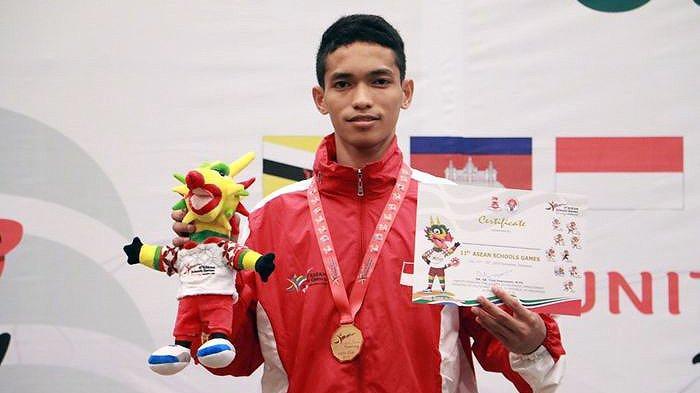 Zaki Persembahkan Emas Perdana dari Pencak Silat di Ajang ASEAN Schools Games 2019