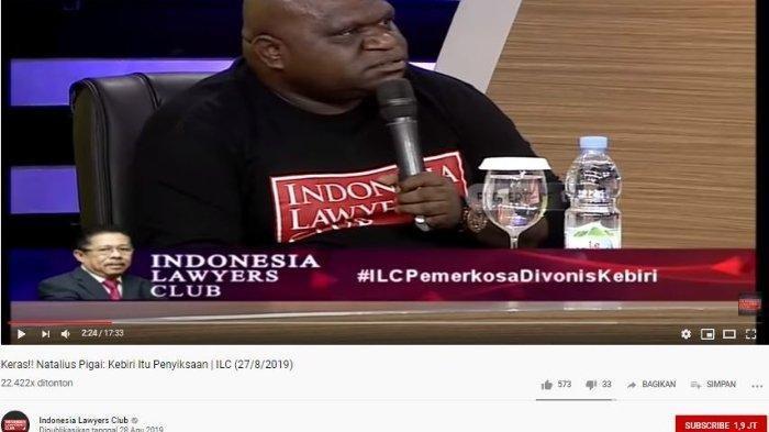 Karni Ilyas Tegur Natalius Pigai sambil Tertawa karena Beberkan Kondisi Terkini Papua di ILC