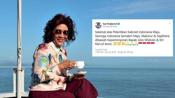 Tak Dipilih Lagi jadi Menteri, Susi Pudjiastuti Trending di Twitter, Instagram-nya Diserbu Netizen