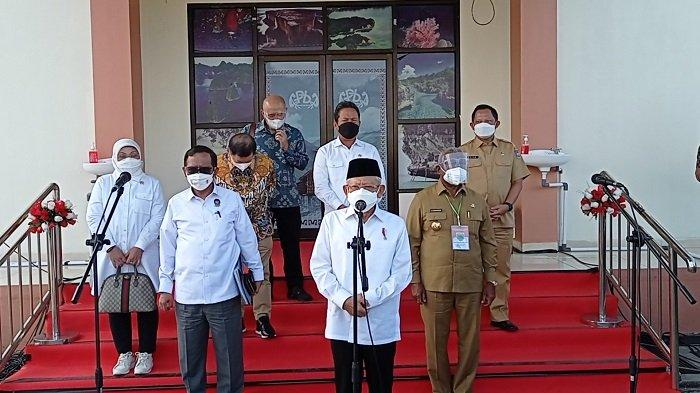 Bahas Sejumlah Masalah, Wapres Ma'ruf Amin Kunjungi Manokwari Papua Barat
