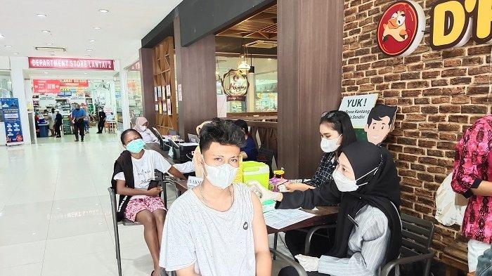 Polresta Jayapura Kota Gelar Vaksinasi di Mega Waena, 10 Orang Gagal Divaksin