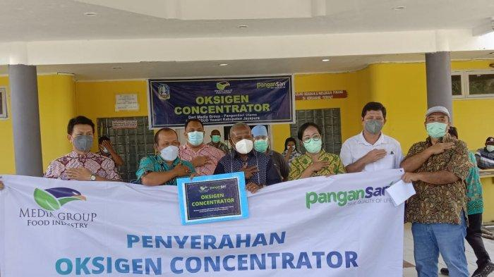 RSUD Youwari Sentani Dapat Batuan Alat Konsentrator Oksigen Dari Media Group Pangansari