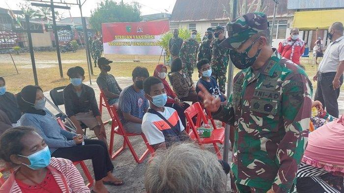 Sambut PON XX Papua, Kodam XVII/Cenderawasih Gencar Lakukan Vaksinasi ke Warga