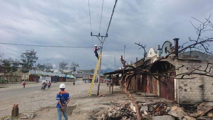Jaringan Listrik di Wamena Pulih 100 Persen, Pemkab Fokus Renovasi Fasilitas Umum yang Rusak