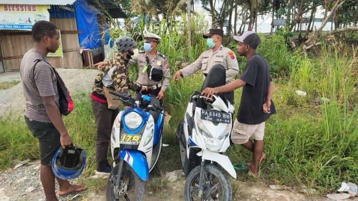 Razia Kendaraan, 10 Motor di Dekat Perbatasan Indonesia-Papua Nugini Diamankan Polsek Muaratami