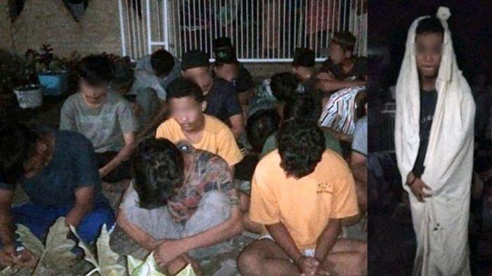 Kepergok Asik Prank Pocong ke Pengguna Jalan, 18 Remaja Dibawa Anggota Marinir ke Pak RT