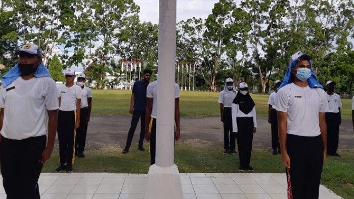 H-8 HUT RI, Paskibraka Kota Jayapura Menunggu Keputusan Panitia Upacar Bendera