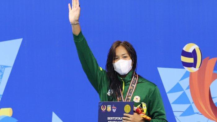 Patrisia Yosita Hapsari berhasil meraih medali emas setelah membukukan waktu tercepat 57.36 detik. Tribunnews/Jeprima