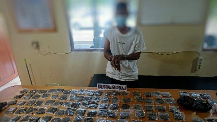 Polisi Tangkap Pengedar Ganja di Nabire, Amankan Ratusan Paket Ganja dari Rumah dan Kios Pelaku
