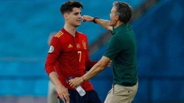 Bobol Gawang Kroasia di Laga EURO 2020, Alvaro Morata Bawa Spanyol Maju ke Perempat Final