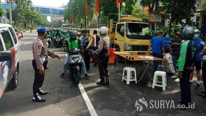 Kronologi Lengkap soal Viral Video Ratusan Driver Ojol Hentikan Truk Sembako, Awalnya Tertib