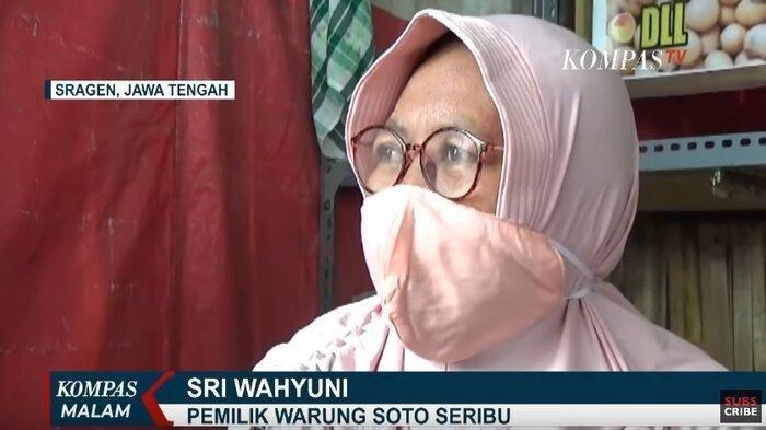 Pemilik warung soto harga seribu di Sragen bernama Sri Wahyuni.