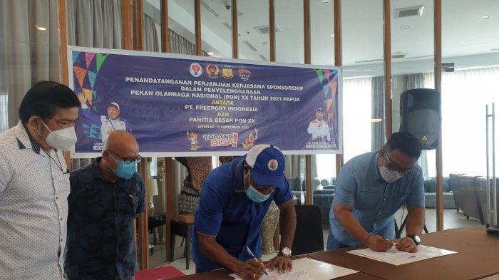 PT Freeport Sumbang 15 M untuk PON XX, Yunus Wonda: Kami Tunggu Bantuan Perusahaan Lain