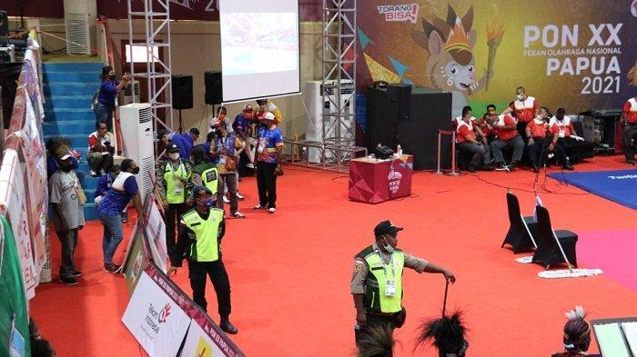 Puluhan Personel Perketat Pengamanan di Cabor Gulat PON XX Papua