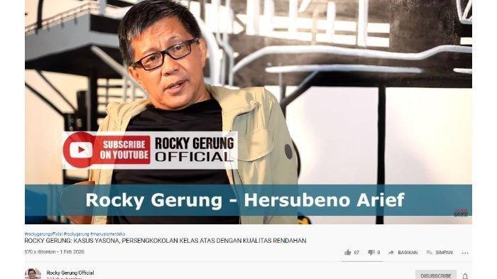Soal Harun Masiku, Rocky Gerung Heran Jokowi hanya Memaafkan Yasonna Laoly: Berbahaya Bagi Publik