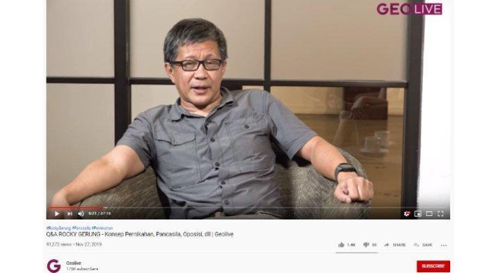 Soal Keinginan Jadi Presiden Indonesia, Rocky Gerung: Saya Presiden Akal Sehat, Itu Luar Biasa