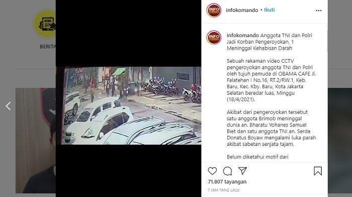 Viral Pengeroyokan terhadap Anggota TNI dan Polri, Dandim Jaksel: Pelaku Belum Diketahui