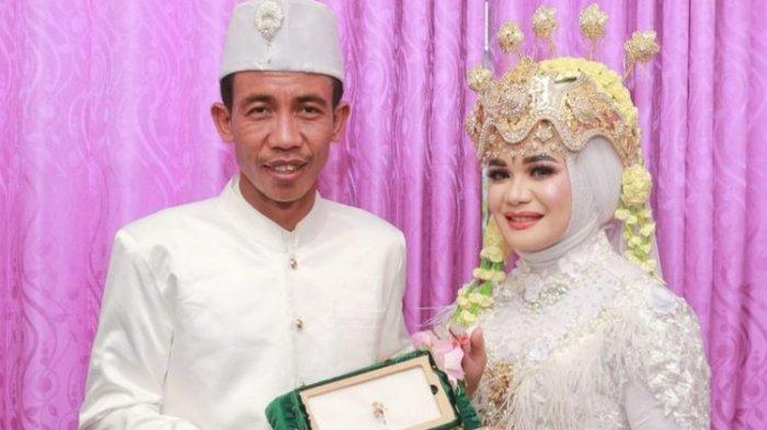 Viral Foto Pengantin Pria Mirip Presiden Jokowi, Istri: Waktu Pertama Ketemu Tak Merasa Mirip Jokowi