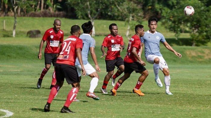 Persipura Jayapura Harus Rela Raih Hasil Imbang di Laga Uji Coba Lawan Sulut United
