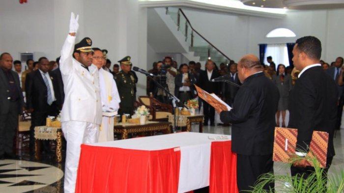 Lantik Wabup Keerom, Gubernur Papua Lukas Enembe: Jangan Langkahi Kewenangan Bupati