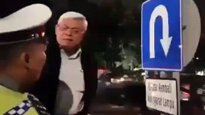 VIDEO Polisi Dimarahi Pria yang Ngaku Profesor Hukum soal Rambu Lalu Lintas, Ini Kata Kasatlantas