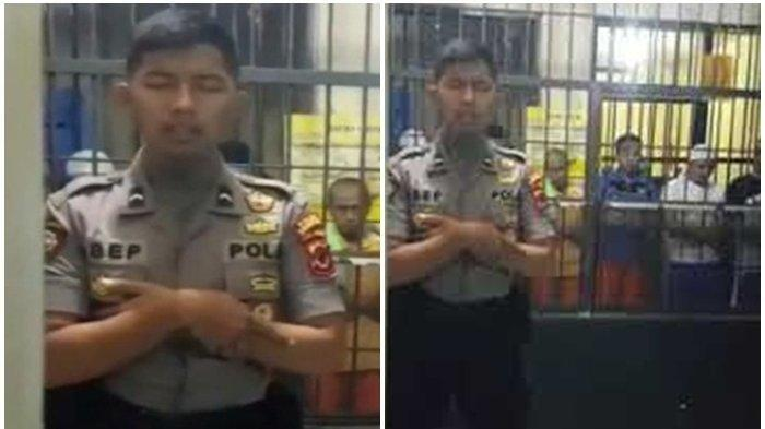 Kabar Polisi Viral yang Jadi Imam Salat di Sel Tahanan, Dipanggil Kapolri Idham Aziz Diberi Tawaran
