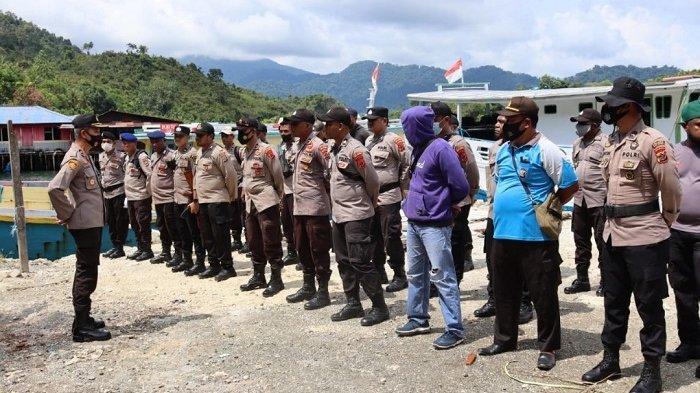 197 Anggota Polres Yapen Disiagakan Amankan Pilkades Serentak 2021