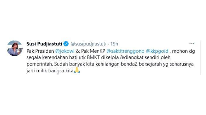 Postingan Susi Pudjiastuti soal Jokowi izinkan negara lain cari harta karun di Indonesia