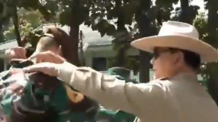Momen Prabowo Perbaiki Kerah Taruna Akmil Keturunan Perancis Enzo Allie, Sempat Berikan Pesan