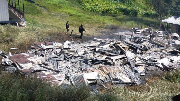 Satgas Nemangkawi Temukan Satu Selongsong Peluru di Lokasi Pembakaran oleh KKB di Kampung Dambet