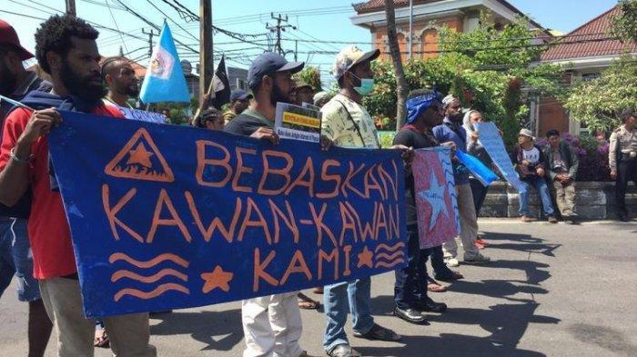 Gelar Aksi Damai, Mahasiswa Papua di Bali Minta Pembawa Bendera Bintang Kejora di Jakarta Dibebaskan