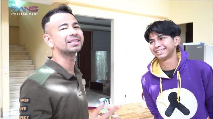 Raffi Ahmad dan Dimas 'Ahmad' dalam tayangan di kanal YouTube Rans Entertainment, Selasa (3/11/2020). Raffi Ahmad bertemu dengan Dimas yang disebut mirip dengannya.