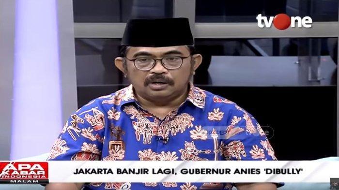 Bamus Betawi Ajak Bersyukur Banjir DKI Selalu di Hari Libur: Bukan Anies Gubernurnya, Terjadi Senin