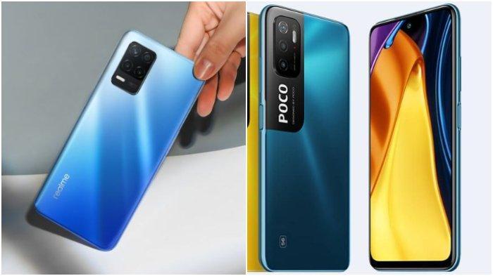 Perbandingan Spesifikasi dan Harga Realme 8 5G dengan Xiaomi Poco M3 Pro 5G
