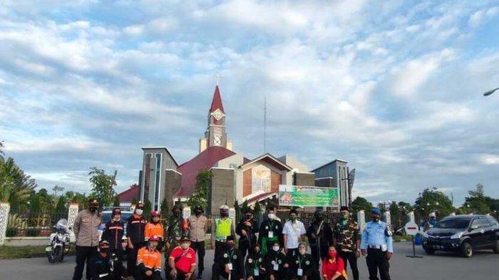 Begini Potret Toleransi di Mimika, Umat Lintas Agama Ikut Amankan Misa Natal