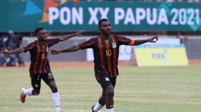 Sedang Berlangsung Final Sepakbola PON XX Papua, Dua Gol Ricky Cawor Benamkan Aceh