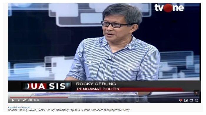 Komentari soal Gerindra Masuk Koalisi Jokowi, Rocky Gerung: Semacam Sleeping With The Enemy
