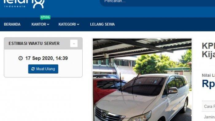 Daftar Terbaru Lelang Mobil Sitaan Ditjen Pajak, Harga Mulai Rp 63 Juta dari Avanza hingga Inova