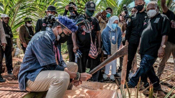 Sandiaga Uno Jadi Menteri Pertama yang Kunjungi Kampung Yoboi, Bupati Jayapura: Tak Pernah Terjadi