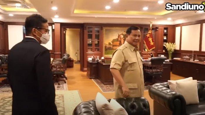 Temui Prabowo di Kantor Kemenhan, Sandiaga Uno Sempat Minta Maaf Gara-gara Hal Ini