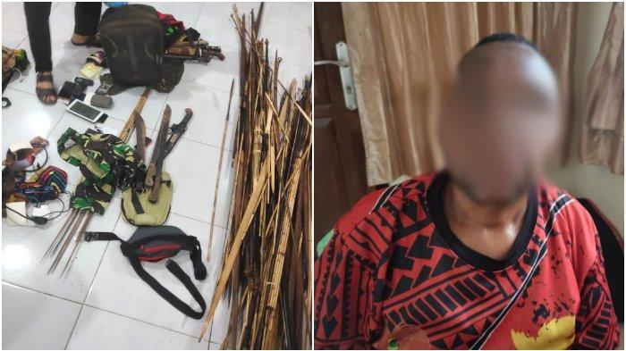Satgas Nemangkawi menangkap sopir truk yang merupakan oknum Aparatur Sipil Negara (ASN) Pemkab Yahukimo berinisial ES, pemasok senjata api ke KKB Yahukimo, Papua.