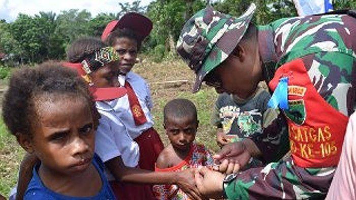 Peduli Generasi Muda Papua, Satgas TMMD Ke-105 Kodim 1802/Sorong Ajari Murid SD Pola Hidup Sehat